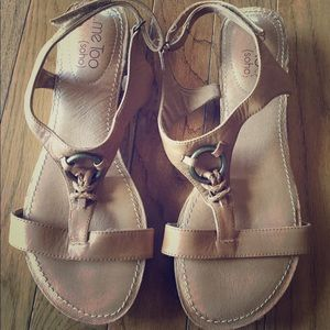 Me Too tan sandals - NEVER WORN